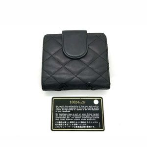 CHANEL Bags - Authentic Chanel Cambon Quilted Wallet Black